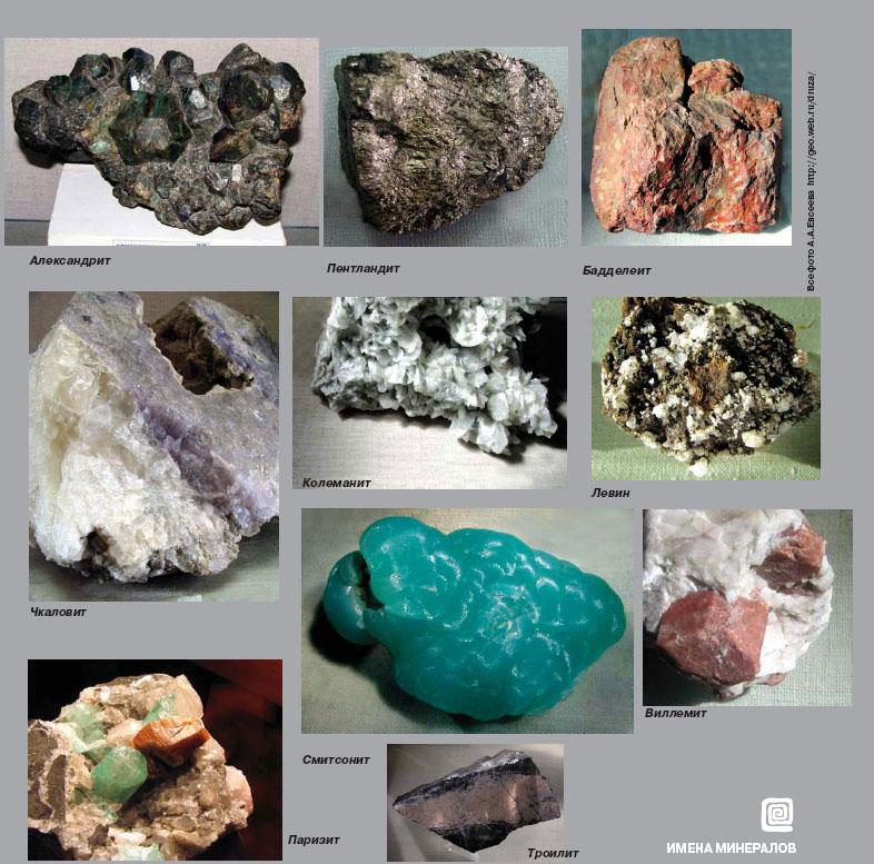 чем-то можно фото минералов и горных пород с названиями интервью